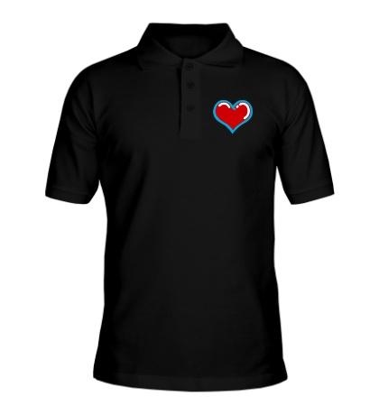Рубашка поло Объемное сердечко