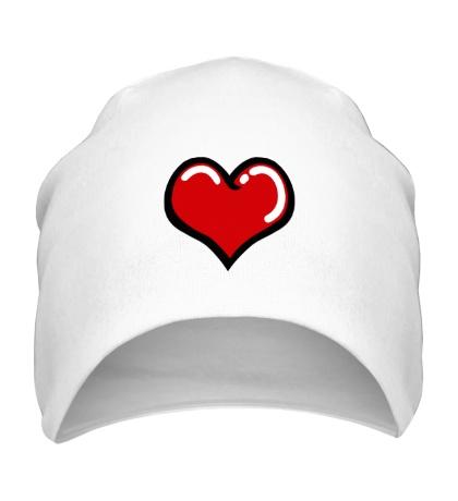 Шапка Объемное сердечко