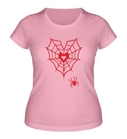Женская футболка Паутина любви