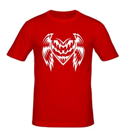 Мужская футболка Крылатое сердце