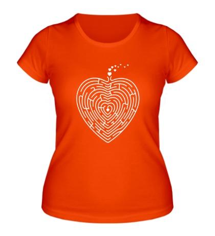 Женская футболка Сердце лабиринт