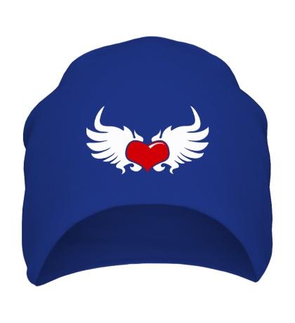 Шапка Сердце с крыльями