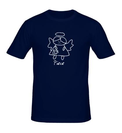 Мужская футболка Девочка-ангел