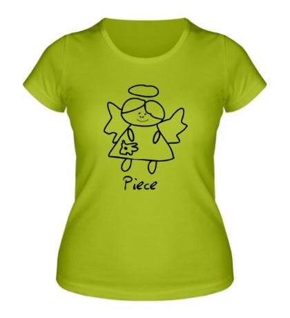 Женская футболка Девочка-ангел
