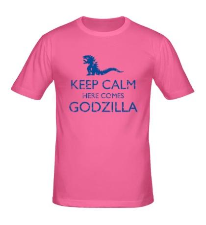 Мужская футболка Keep Calm here comes Godzilla