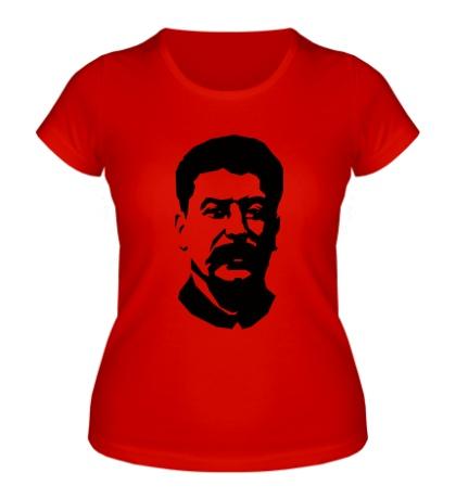 Женская футболка Виссарионович Сталин