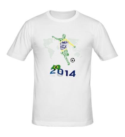 Мужская футболка Football Brazil 2014