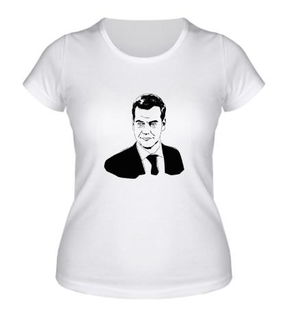 Женская футболка Дмитрий Медведев