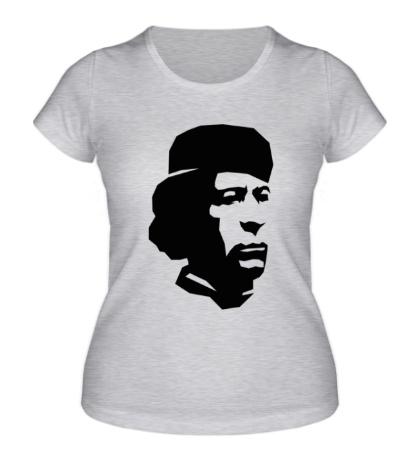 Женская футболка Революционер Каддафи