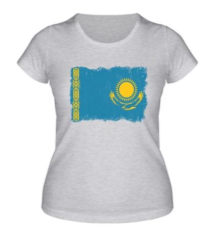 Женская футболка Флаг Казахстана