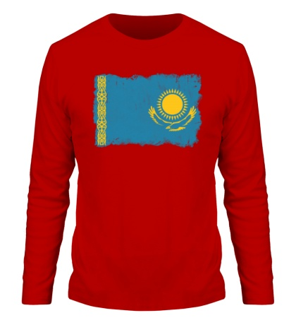 Мужской лонгслив Флаг Казахстана