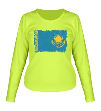 Женский лонгслив Флаг Казахстана