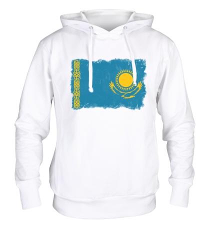 Толстовка с капюшоном Флаг Казахстана