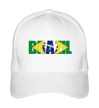 Бейсболка Строгая надпись BRAZIL