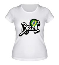 Женская футболка Brazil Football 2014
