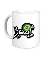 Керамическая кружка Brazil Football 2014