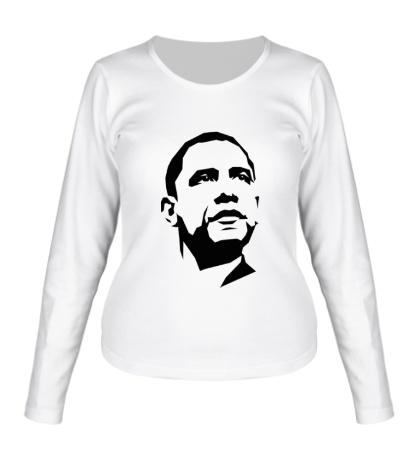 Женский лонгслив Барак Обама