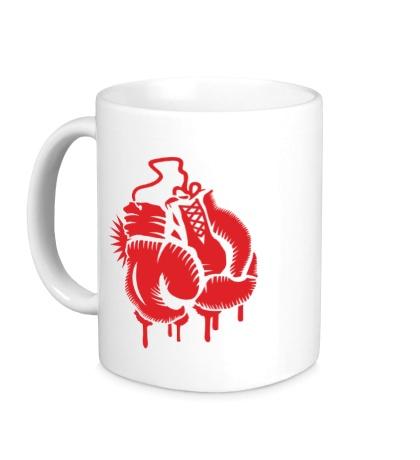 Керамическая кружка Боксерские перчатки