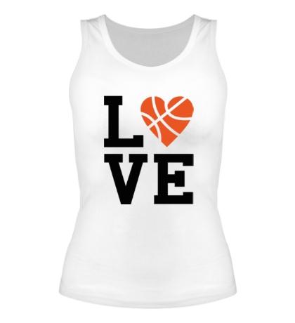 Женская майка Basketball Love