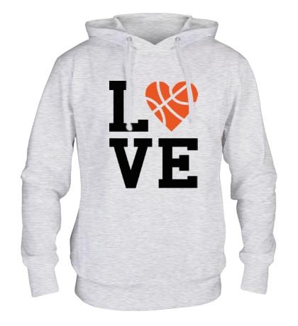 Толстовка с капюшоном Basketball Love