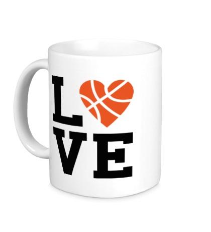 Керамическая кружка Basketball Love
