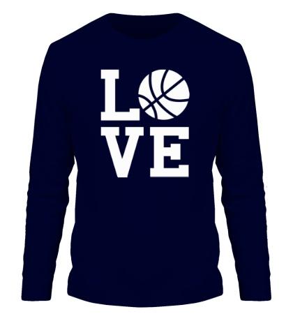 Мужской лонгслив Влюблен в баскетбол