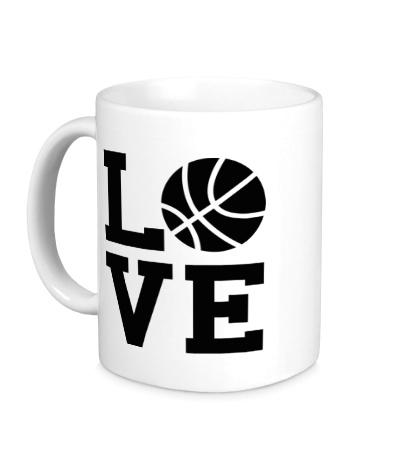 Керамическая кружка Влюблен в баскетбол