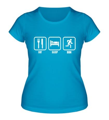Женская футболка Eat Sleep Run