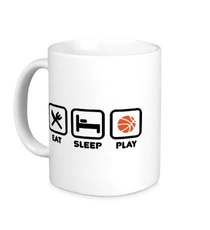Керамическая кружка Eat Sleep Basketball
