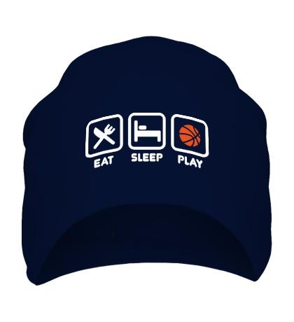 Шапка Eat Sleep Basketball