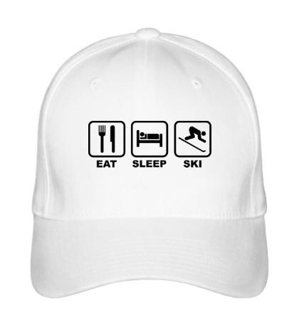 Бейсболка Eat Sleep Ski