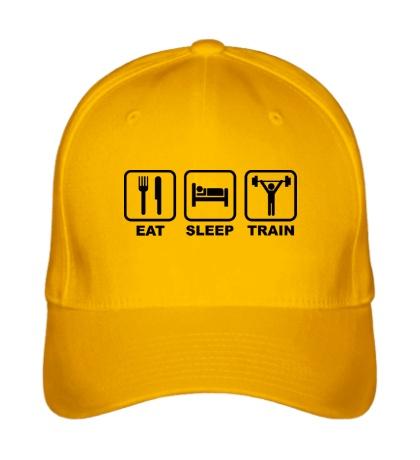 Бейсболка Eat sleep train