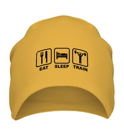Шапка Eat sleep train