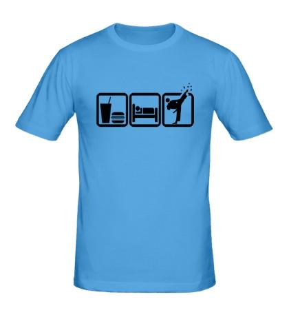 Мужская футболка Ешь, спи и бей