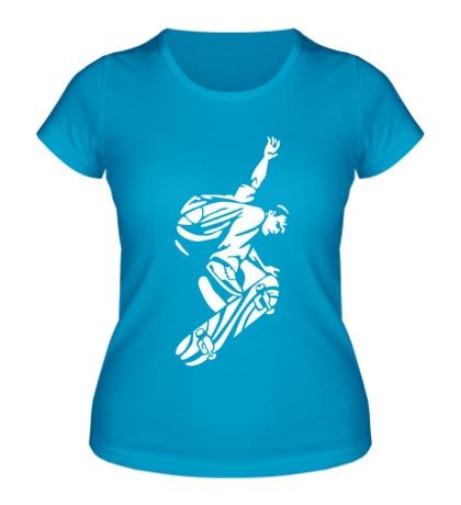 Женская футболка Уличный скейтер