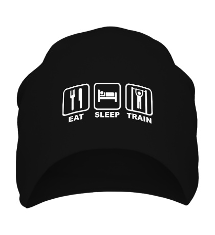 Шапка Еда, сон и тренировка