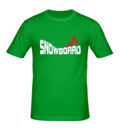 Мужская футболка Snowboard