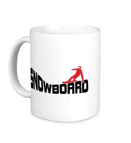 Керамическая кружка Snowboard