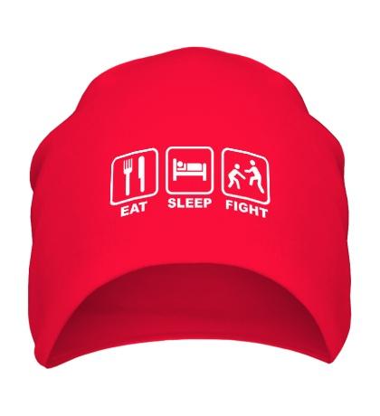 Шапка Eat Sleep Fight