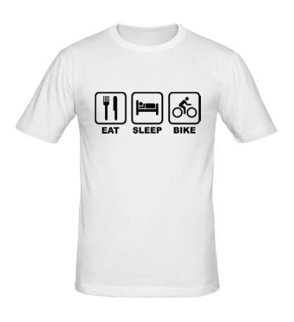 Мужская футболка Eat Sleep Bike