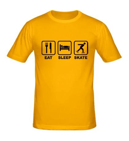 Мужская футболка Eat sleep skate