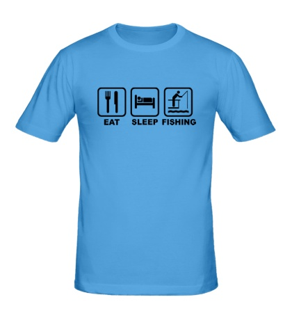 Мужская футболка Eat Sleep Fishing