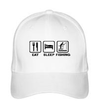 Бейсболка Eat Sleep Fishing
