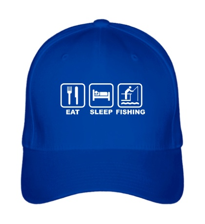 Бейсболка Eat Sleep Fishing