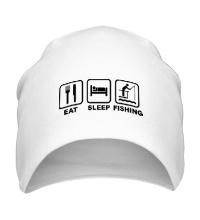 Шапка Eat Sleep Fishing