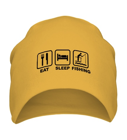 Шапка Eat Sleep Fishing