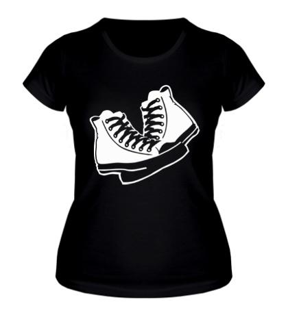 Женская футболка Уличные кеды