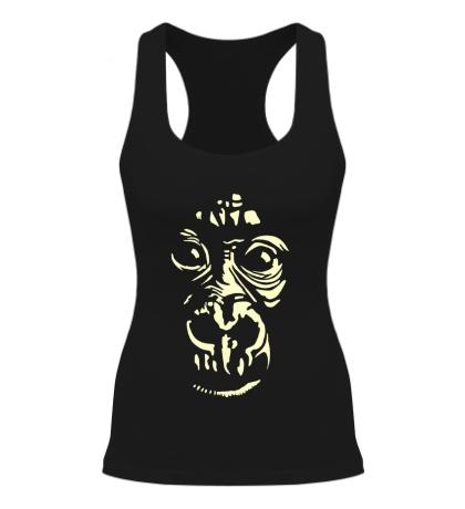 Женская борцовка Лицо шимпанзе, свет
