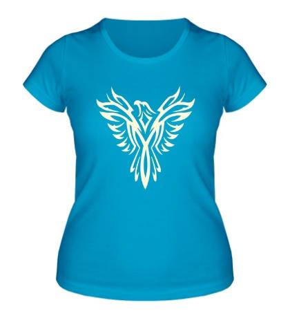 Женская футболка Феникс узор свет