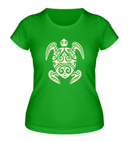 Женская футболка Морская черепаха тату, свет